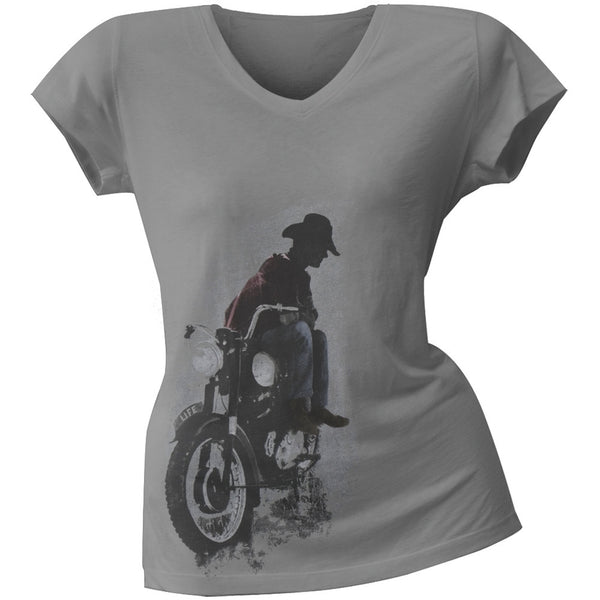 Life Magazine - Cowboy V-Neck Juniors T-Shirt