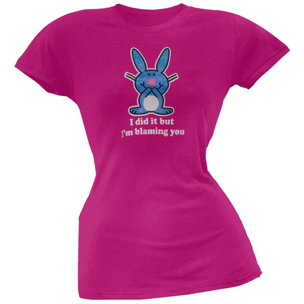 Happy Bunny - Blaming You Juniors T-Shirt