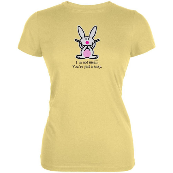 Happy Bunny - Not Mean Sissy Juniors T-Shirt
