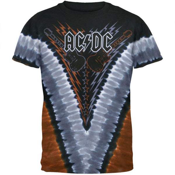 AC/DC - High Voltage Black Tie Dye T-Shirt