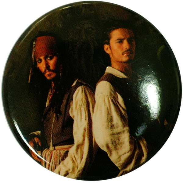 Pirates Of The Caribbean - Jack & Will Button