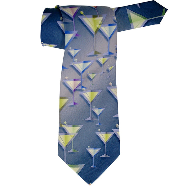 Martini Glasses All-Over Neck Tie