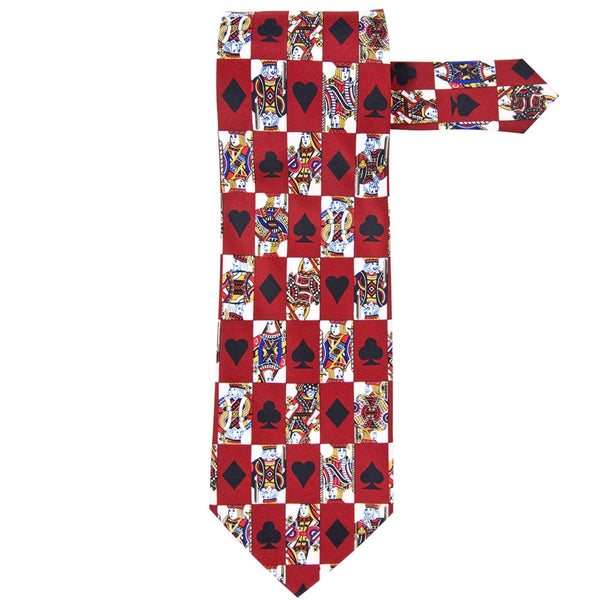 Playing Cards All-Over Necktie - front view