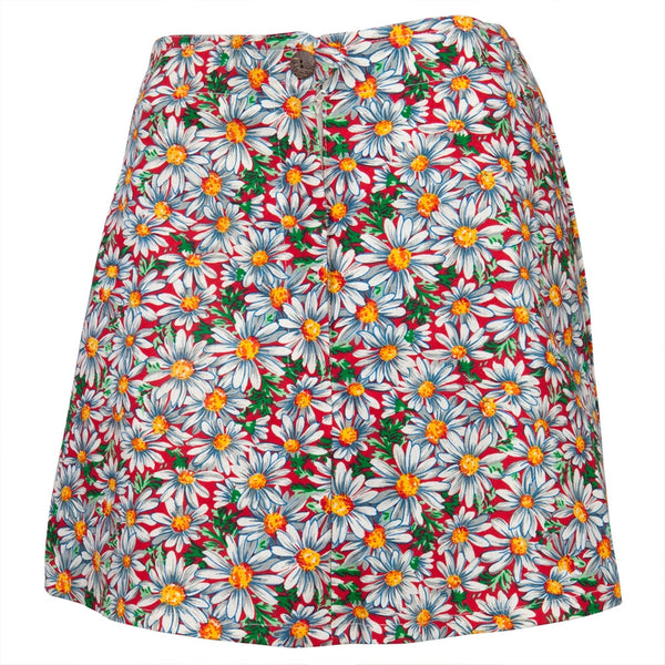 Daisy Pattern Hemp Skirt