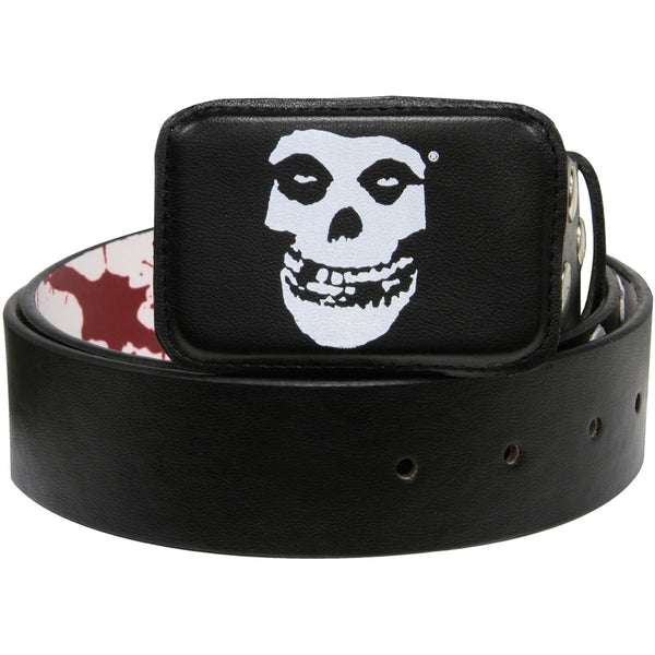 Misfits - Blood Splatters Reversible Leather Belt