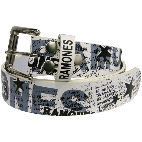 Ramones - All-Over Print Leather Belt