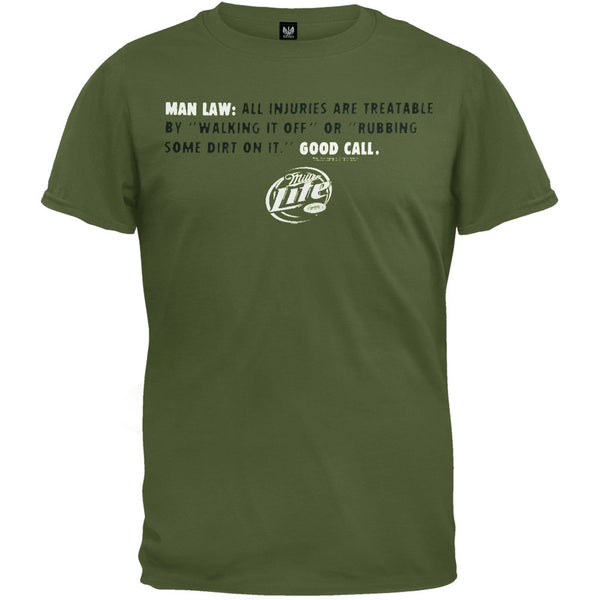 Miller Lite - Man Law Soft T-Shirt