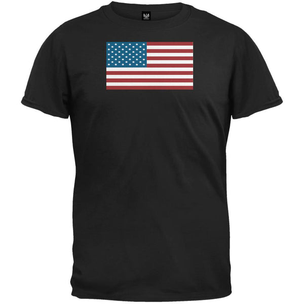 American Flag Black Youth T-Shirt