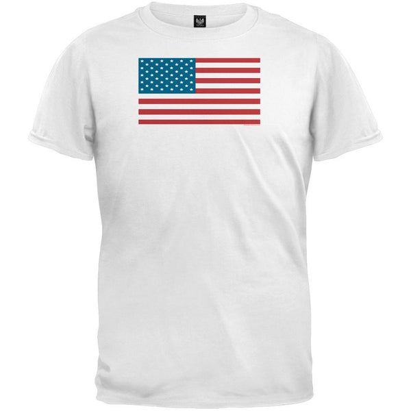 American Flag White Youth T-Shirt