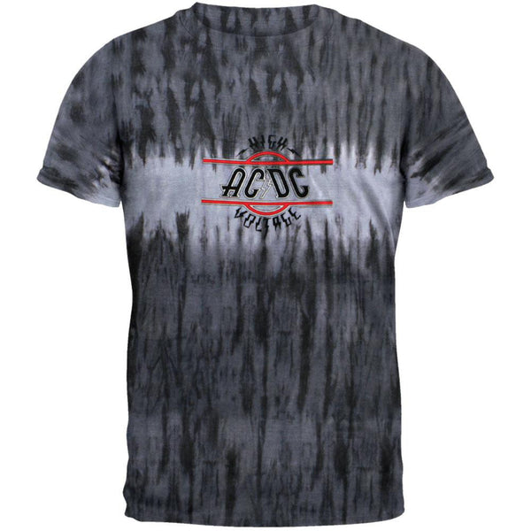 AC/DC - High Voltage Grey Tie Dye T-Shirt