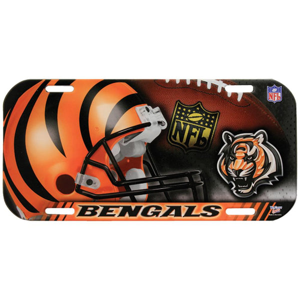Cininnati Bengals - Collage High Def License Plate