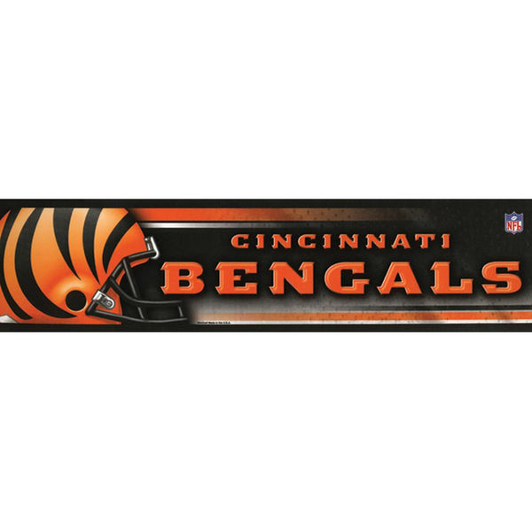 Cincinnati Bengals - Helmet & Name Bumper Sticker