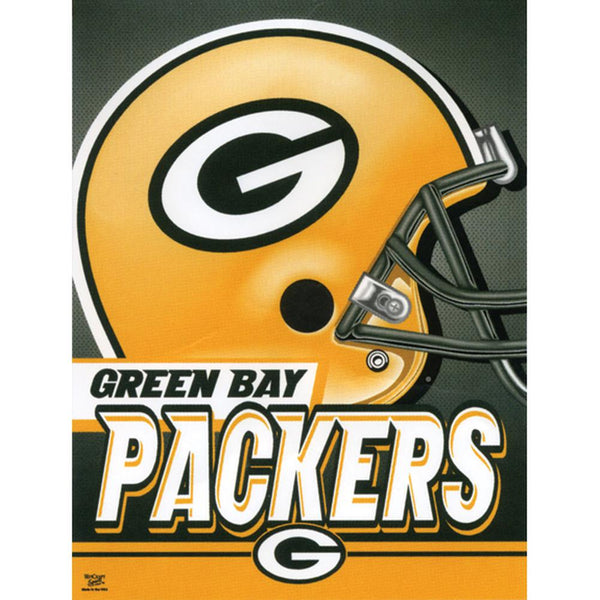 "Green Bay Packers - Helmet 27""X37"" Vertical Flag"