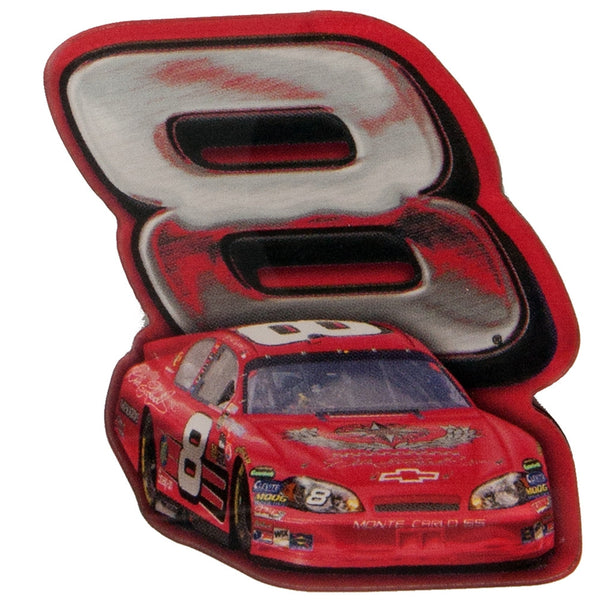 Dale Earnhardt Jr - 8 & Car Retro Acrylic Magnet