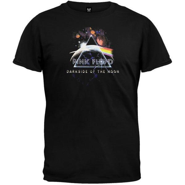 Pink Floyd - Prism Planets Small Print T-Shirt