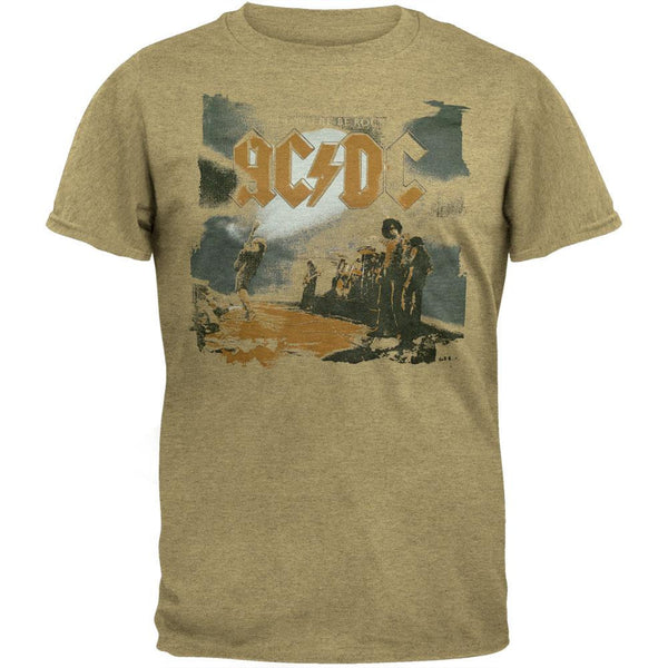 AC/DC - Let There Be Rock Soft Tan T-Shirt
