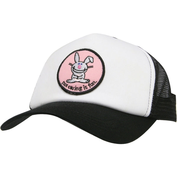 Happy Bunny - Not Caring Trucker Cap