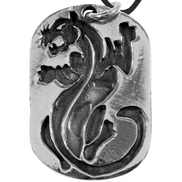Silver Panther Dog Tag Pendant