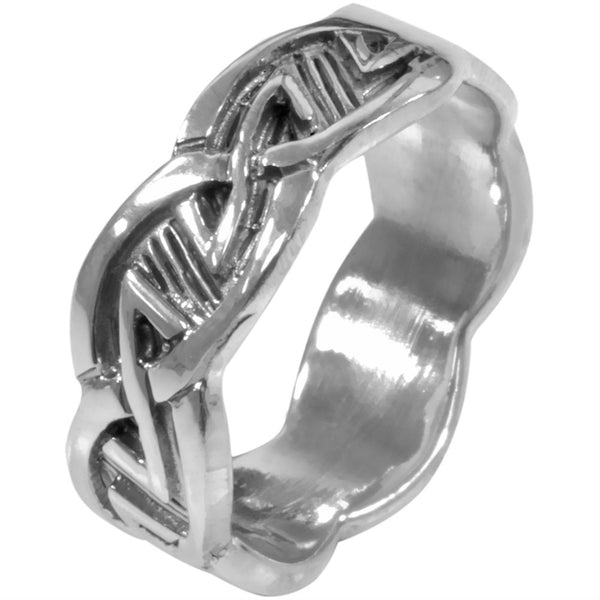 Etched Celtic Knot Ring