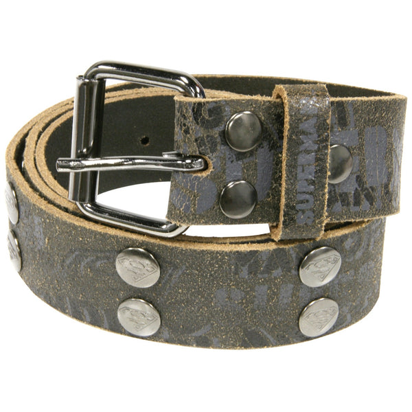 Superman - Collage Leather Belt