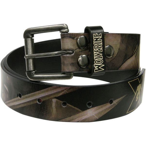 Wolverine - Blades Logo Black Leather Belt