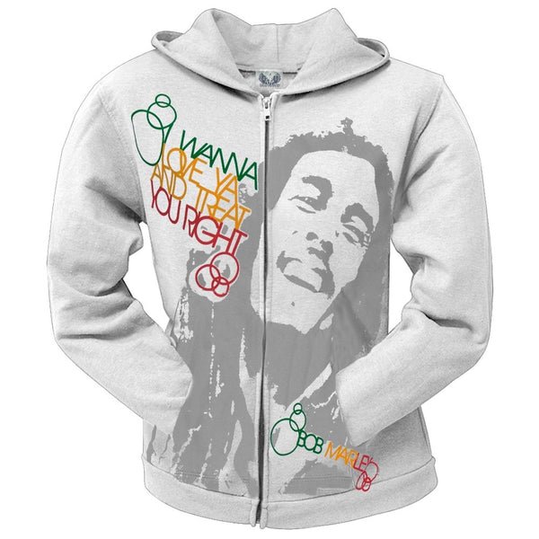 Bob Marley - Treat You Right Juniors Hoodie