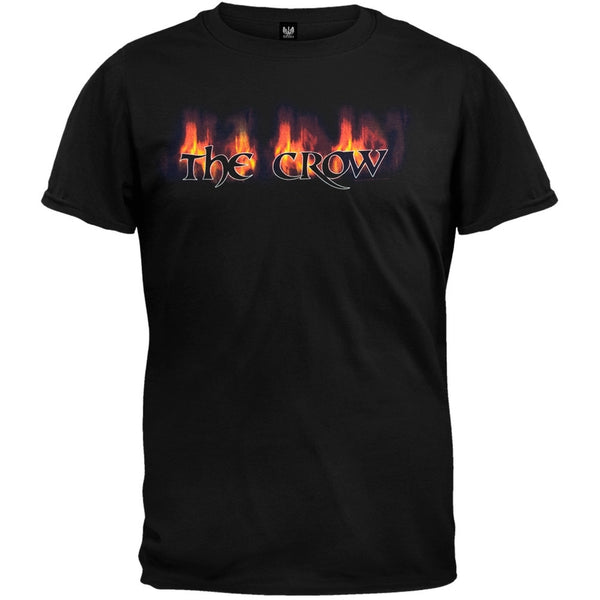 The Crow - Flaming Logo Black Adult T-Shirt
