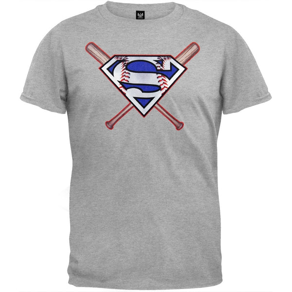 Superman - Baseball Logo T-Shirt