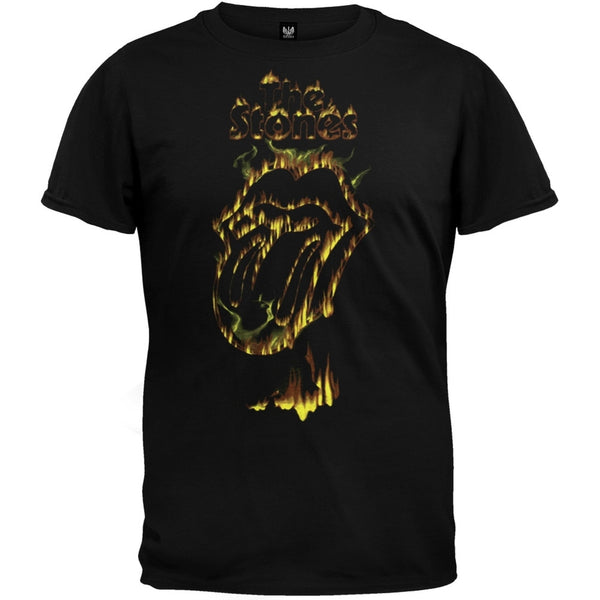 Rolling Stones - Flaming Tongue Soft T-Shirt