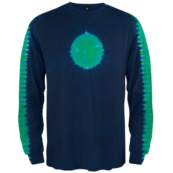 Wedgewood Earth Shoulder Dark Blue Long Sleeve T-Shirt