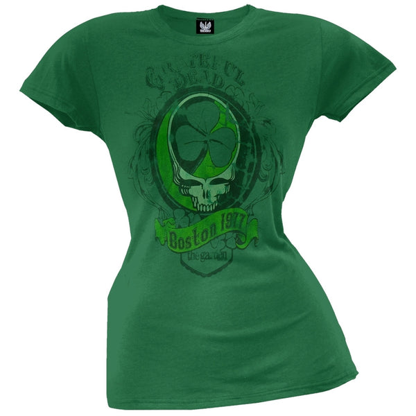 Grateful Dead - Boston 1977 Juniors Green T-Shirt