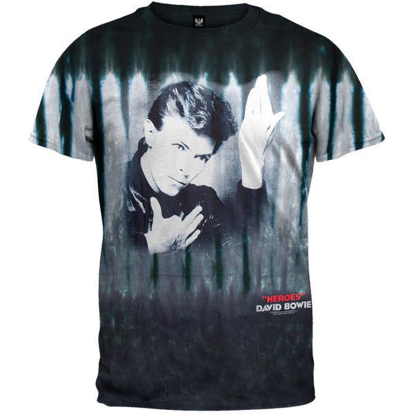 David Bowie - Heroes Tie Dye Adult T-Shirt
