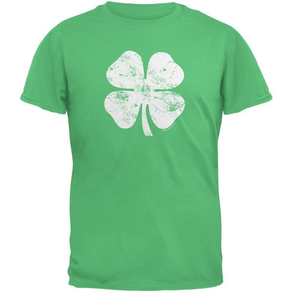 Large Distressed Shamrock Irish Green Youth T-Shirt