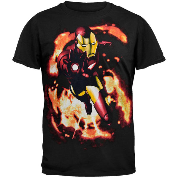 Iron Man - Smolder Flame T-Shirt