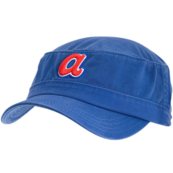 Atlanta Braves - Logo Squad Fitted Blue Cadet Cap