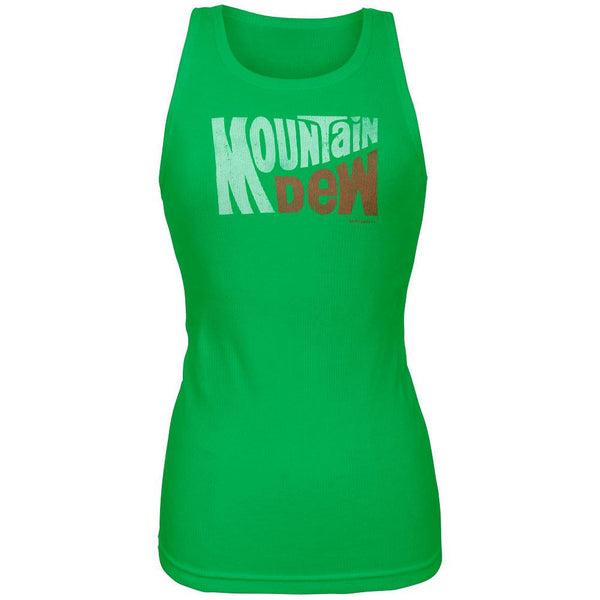 Mountain Dew - Classic Juniors Green Tank Top