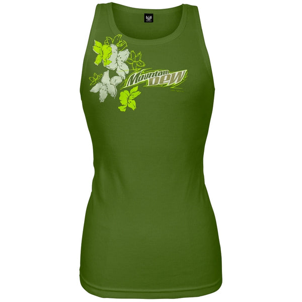 Mountain Dew - Flower Splash Juniors Tank Top