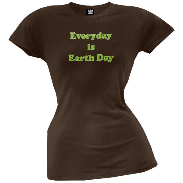 Earth Day - Everyday Is Earth Day Organic Juniors T-Shirt