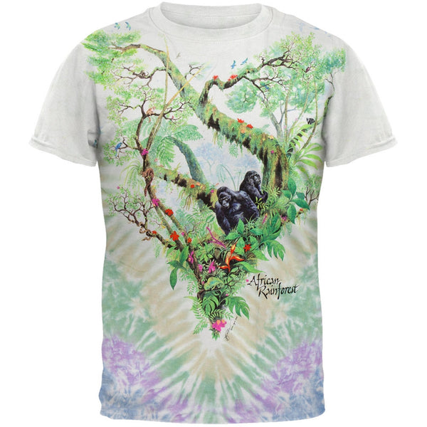 Gorilla Rainforest Tie Dye T-Shirt