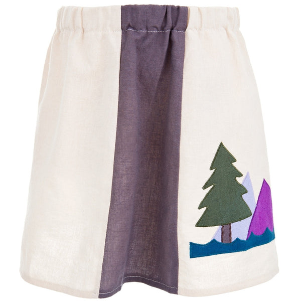 Little Hippie - Moon & Mountains Natural Toddler Skirt