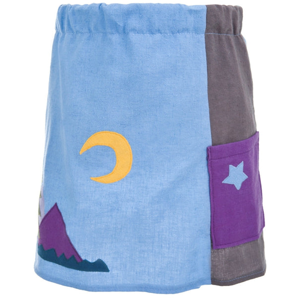 Little Hippie - Moon & Mountains Chocolate Toddler Skirt