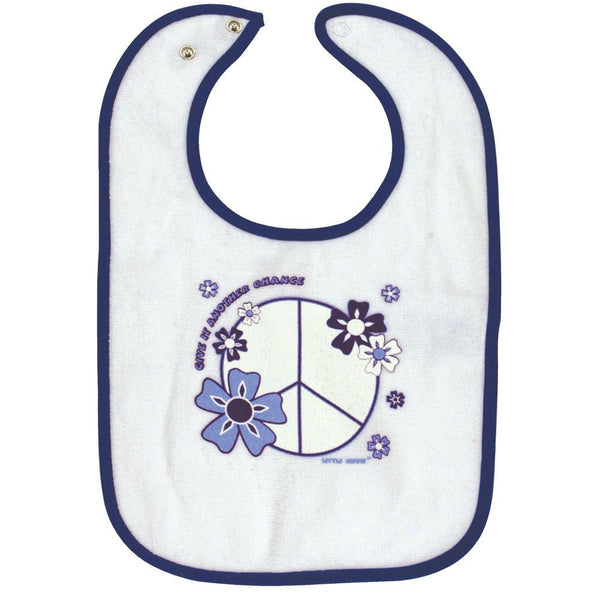 Little Hippie - Peace Royal Infant Snap Bib