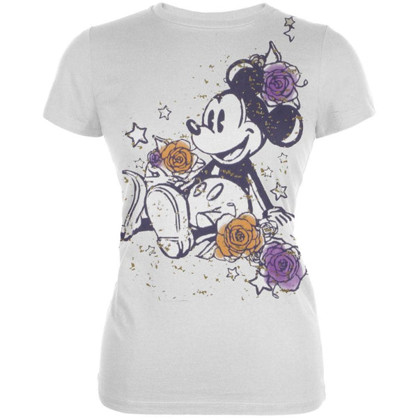 Mickey Mouse - Roses Junior's Babydoll T-Shirt