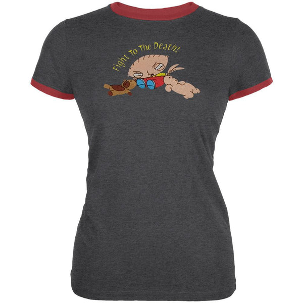 Family Guy - Fight To The Death Red Juniors Ringer T-shirt