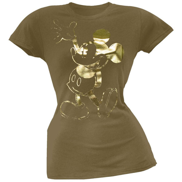 Mickey Mouse - Gold Character Juniors T-Shirt