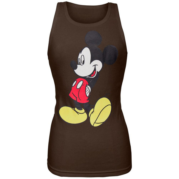 Mickey Mouse - Brown Juniors Tank Top