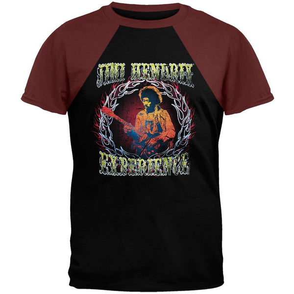Jimi Hendrix - On Fire Short Sleeve Raglan