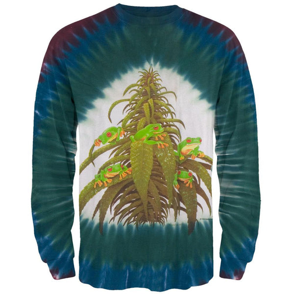 Ganja Frogs Tie Dye Long Sleeve T-Shirt