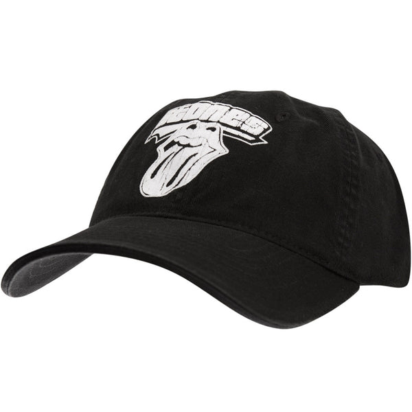 Rolling Stones - White Tongue Flex-Fit Baseball Cap