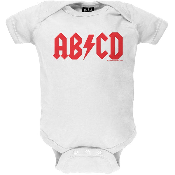 AB/CD White Baby One Piece